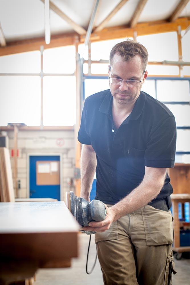 Markus Huppertz bei der Arbeit